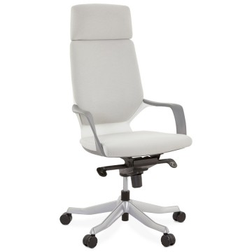 Comfortable and ergonomic GREY office chair ALYSSA