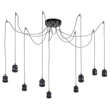 Industrial retro style black lamp suspension UTOPIA