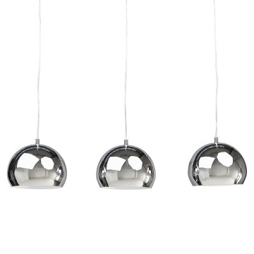 Pretty chromed lamp suspension TRIKA