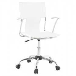 Chaise de bureau BLANCHE design OXFORD