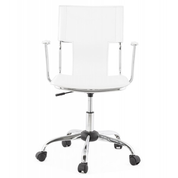 ... White Retro Chic Office Chair OXFORD ...
