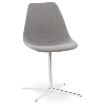 Design gray chair with padded shell NYORO