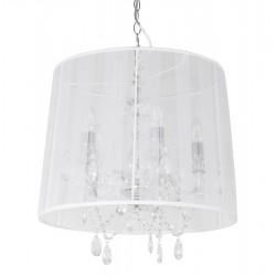 Suspension de lampe style chandelier CONRAD (BLANC)