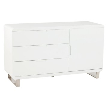 White lacquered storage unit TEMPO