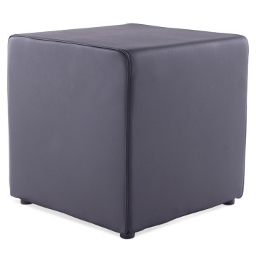 Trendy black footstool RUBIK