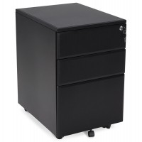 Black lockable drawer box in metal