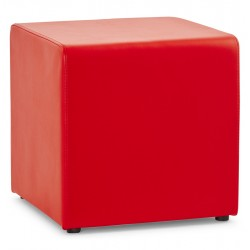 Trendy red footstool RUBIK