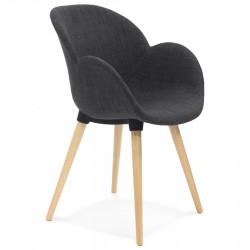 Comfortable GREY chair with Scandinavian design SAGU