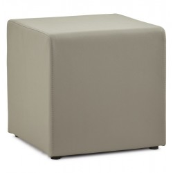 Trendy grey footstool RUBIK