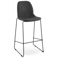 Sturdy and trendy DARK GREY bar stool COOPER