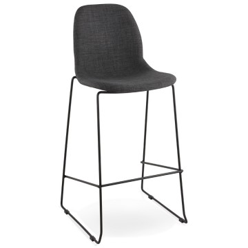 Sturdy and trendy bar stool COOPER (DARK GREY)