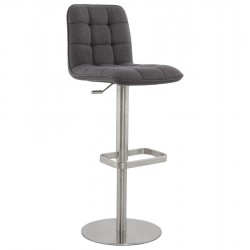 Strong, adjustable and comfotable Dark Grey bar stool JERSEY