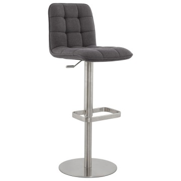 Strong, adjustable and comfotable bar stool JERSEY (DARK GREY)