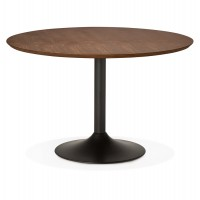Design round table with walnut color for dining room