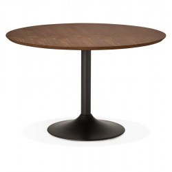 Pretty round dining table with walnut color PATON