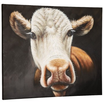 Beautiful hand painted canvas COW