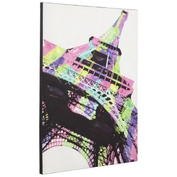 Printed canvas depicting the Eiffel Tower RAINBOW