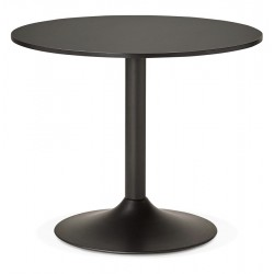 Design BLACK round table KONRAD