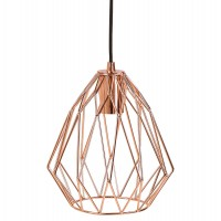 Vintage lamp with industrial style and copper shade