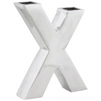Trendy decorative aluminum vase shape X