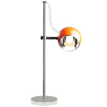 Adjustable and orientable ORANGE designer lamp MOON