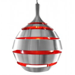Suspension de lampe HALLEY (ROUGE)