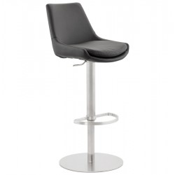 High BLACK bar chair, elegant and comfortable KARU