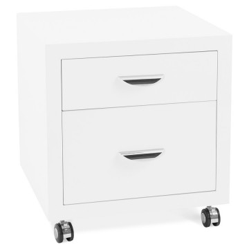 White lacquered rolling chest of drawer OLFUS