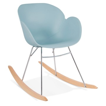 Comfortable blue rocking chair KNEBEL