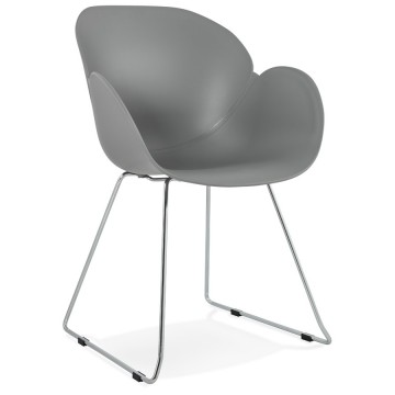 Design and contemporary grey chair TESTA