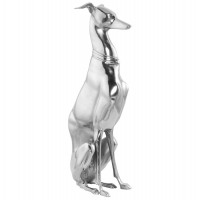 Trendy statue in polished aluminum LUXOR