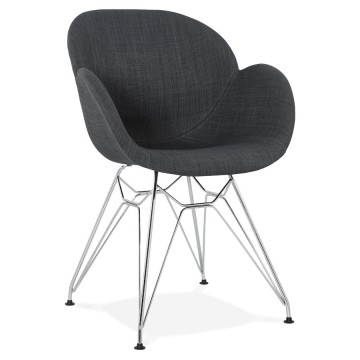 Comfortable black chair with industrial style design ALIX