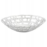 Trendy fruit basket in polished aluminum FRUIT