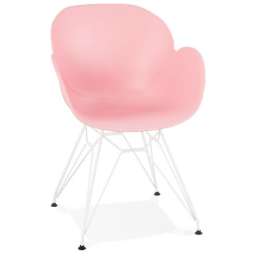 Strong and comfortable PINK chair with trendy design PROVOC