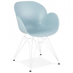 Strong and comfortable BLUE chair with trendy design PROVOC