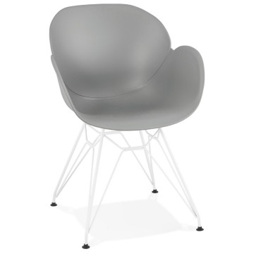 Strong and comfortable GREY chair with trendy design PROVOC