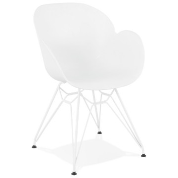Strong and comfortable WHITE chair with trendy design PROVOC