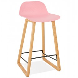 ROSE bar stool with base in solid beech ASTORIA