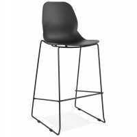 BLACK bar stool for outdoor use ZIGGY