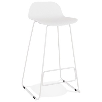 Stable, comfortable and design WHITE bar stool SLADE