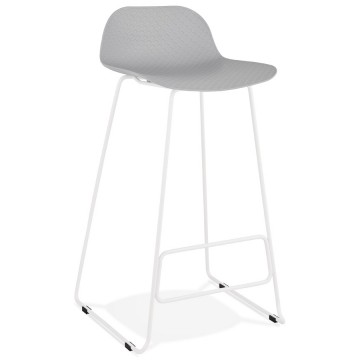 GREY bar stool with WHITE base, stable, comfortable and design SLADE