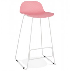 Tabouret de bar ROSE base BLANCHE stable, confortable et design SLADE
