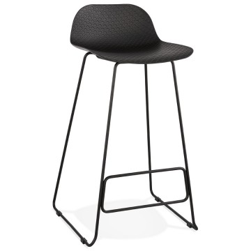 BLACK bar stool, stable, comfortable and design SLADE