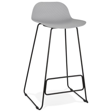 GREY bar stool with BLACK base, stable, comfortable and design SLADE