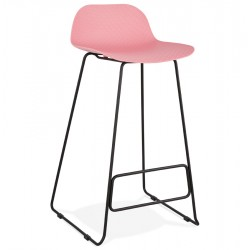 Tabouret de bar ROSE base NOIRE stable, confortable et design SLADE