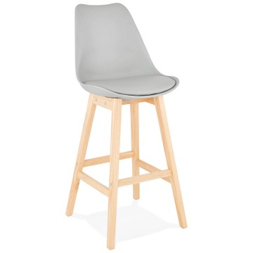 GREY bar stool with Scandinavian style APRIL