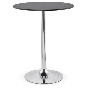 Design BLACK high bar table with wooden top LYNN