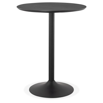 High table or bar table in BLACK with wooden top PINCHO