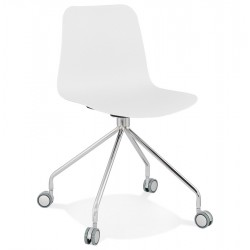 WHITE rolling and design chair RULLE