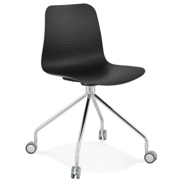 BLACK rolling and design chair RULLE
